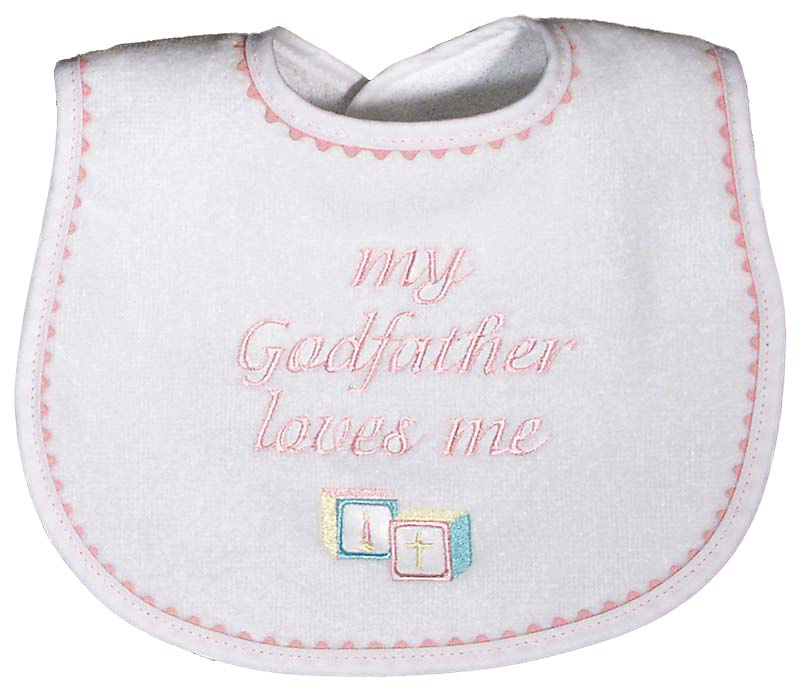 """My Godfather loves me"" Girl Bib"