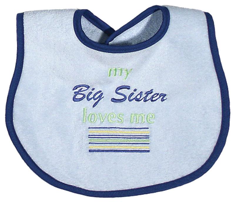 """My Big Sister Loves Me"" Boy Bib"