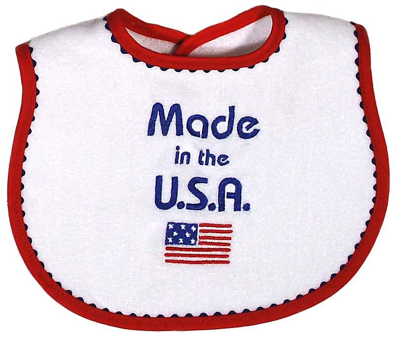 """Made in USA"" Unisex Bib"