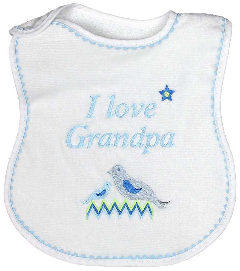"""""""I Love Grandpa"""" Boy Bib"""