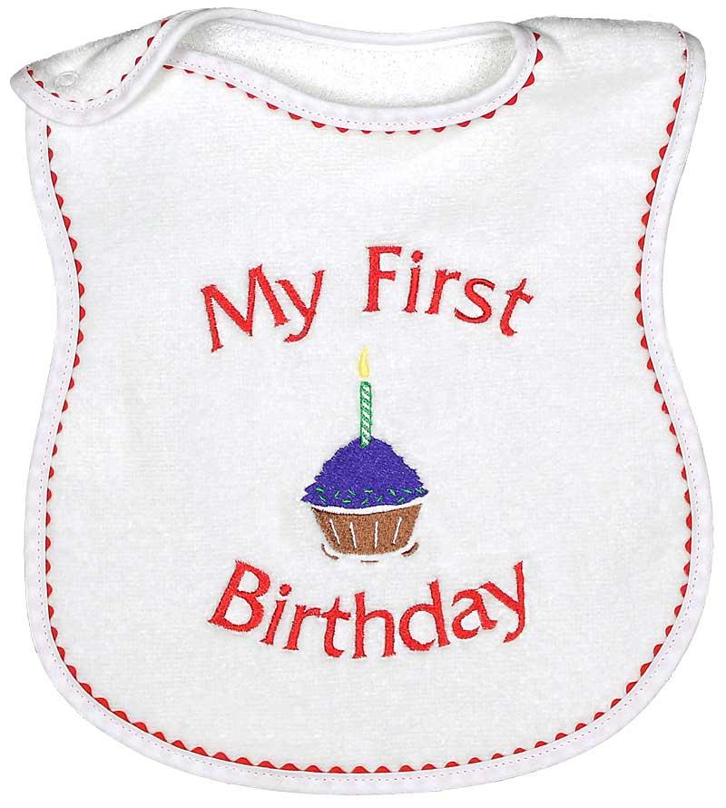"""My First Birthday"" Unisex Bib"