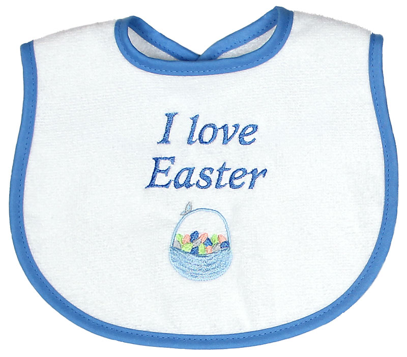 """I Love Easter"" Boy Bib"