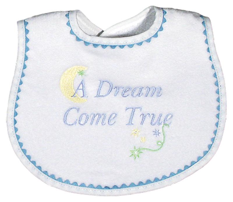 """A Dream Come True"" Boy Bib"
