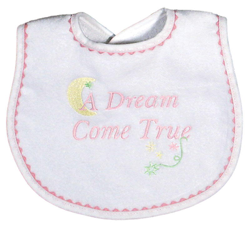 """A Dream Come True"" Girl Bib"