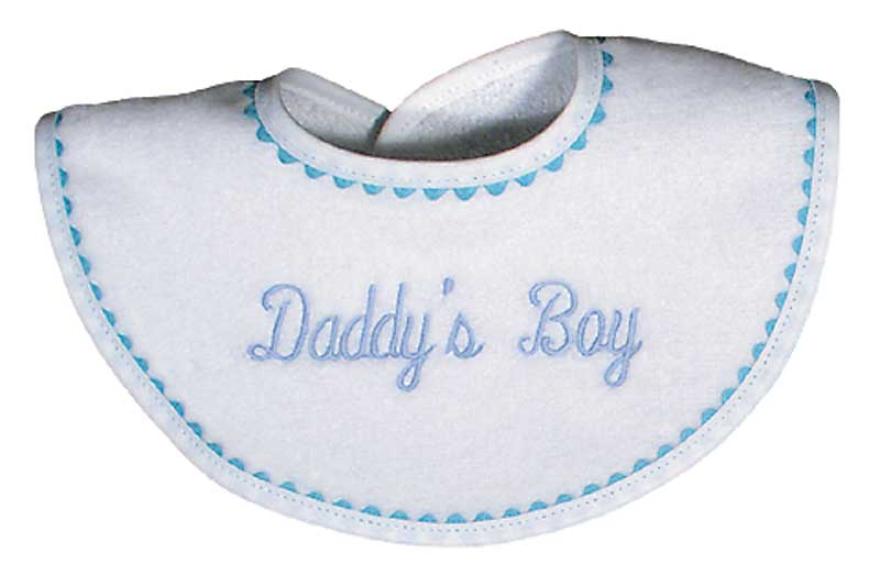 """Daddy's Boy"" Bib"