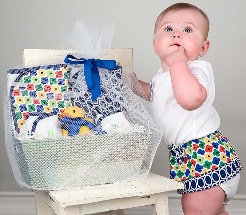 """Wild About Prints"" Bath Towel Navy Girl Gift Set"