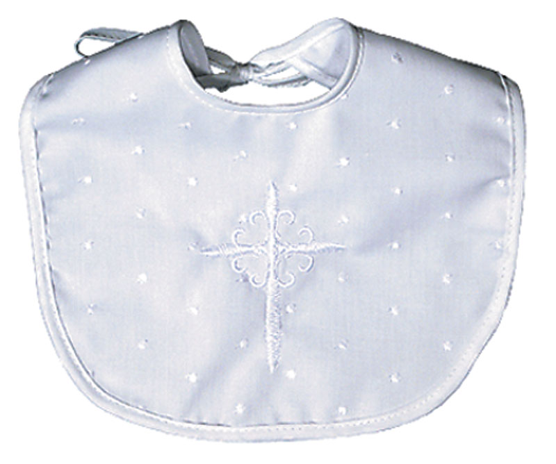 Cotton Christening Unisex Bib