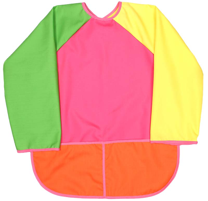 Girl Hot Pink Art Smock