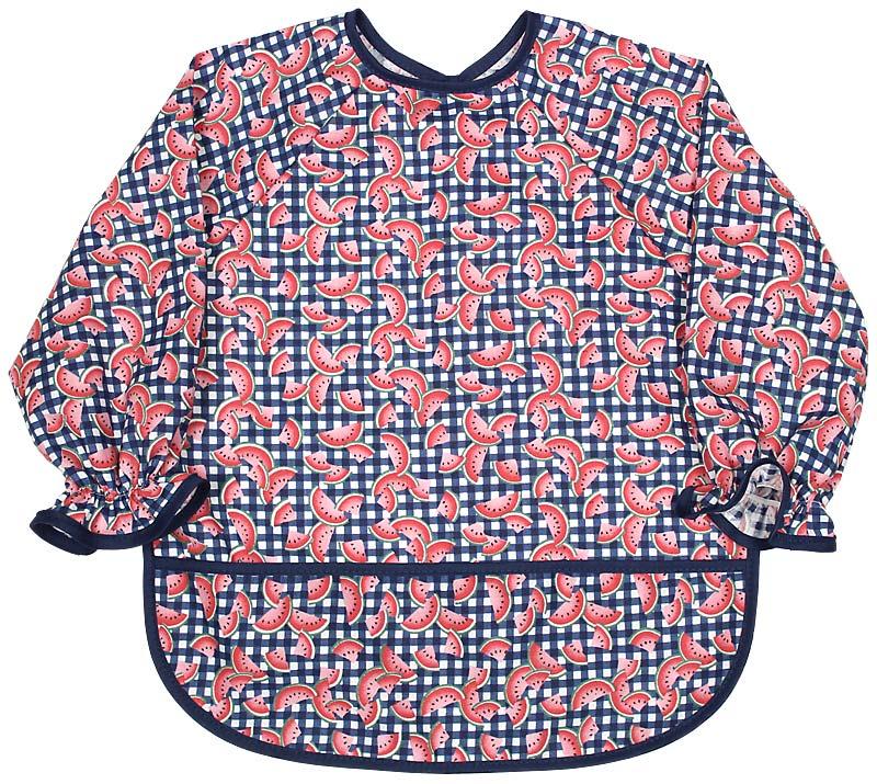 Infant Long Sleeve Girl Print Bib
