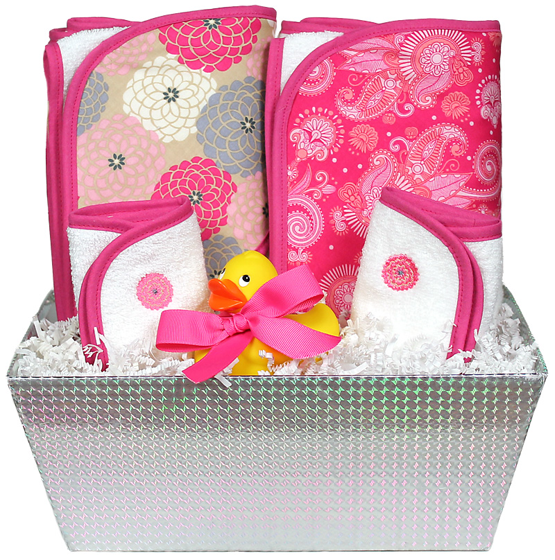 """Wild About Prints"" Bath Towel Hot Pink Girl Gift Set"