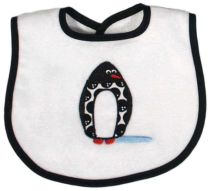 Penguin Appliqued Unisex Bib
