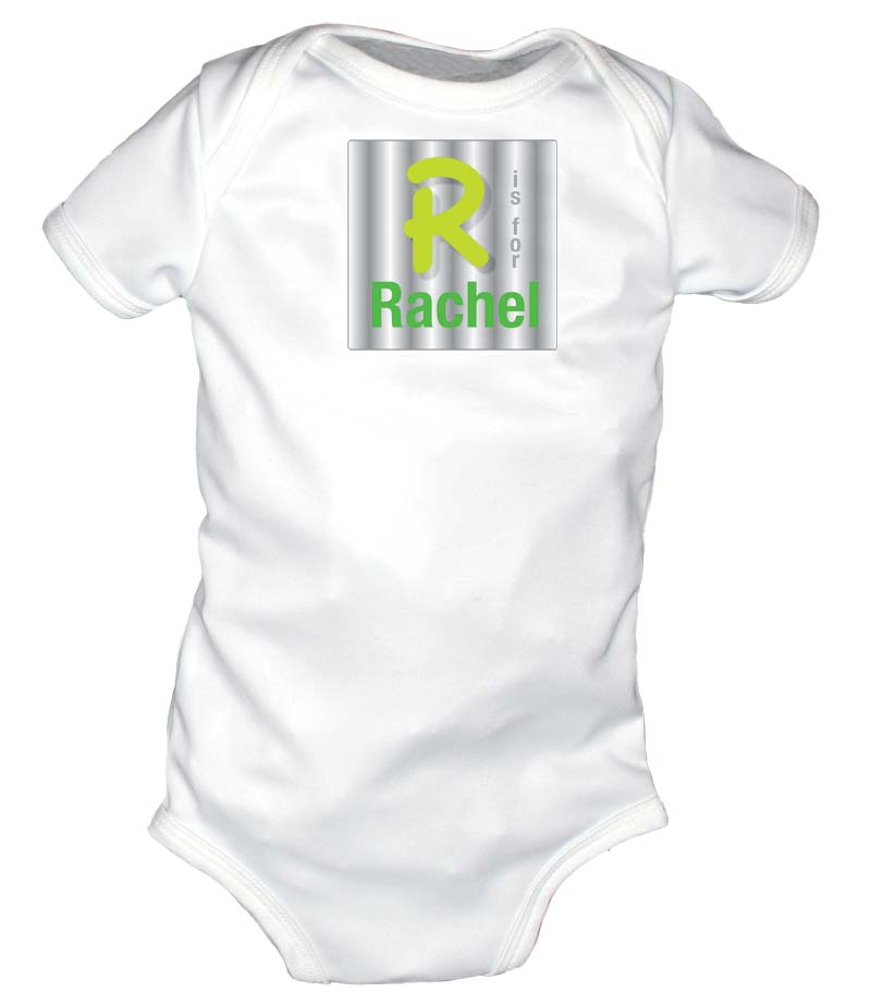N is for Name Personalized Body Suit, Green