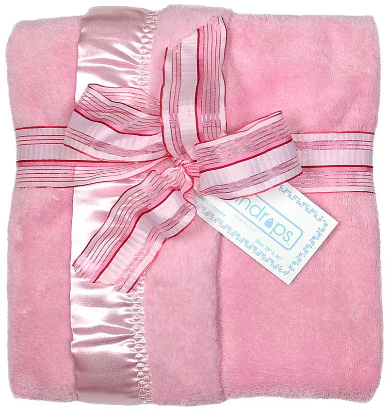 Pink Flurr Girl Receiving Blanket