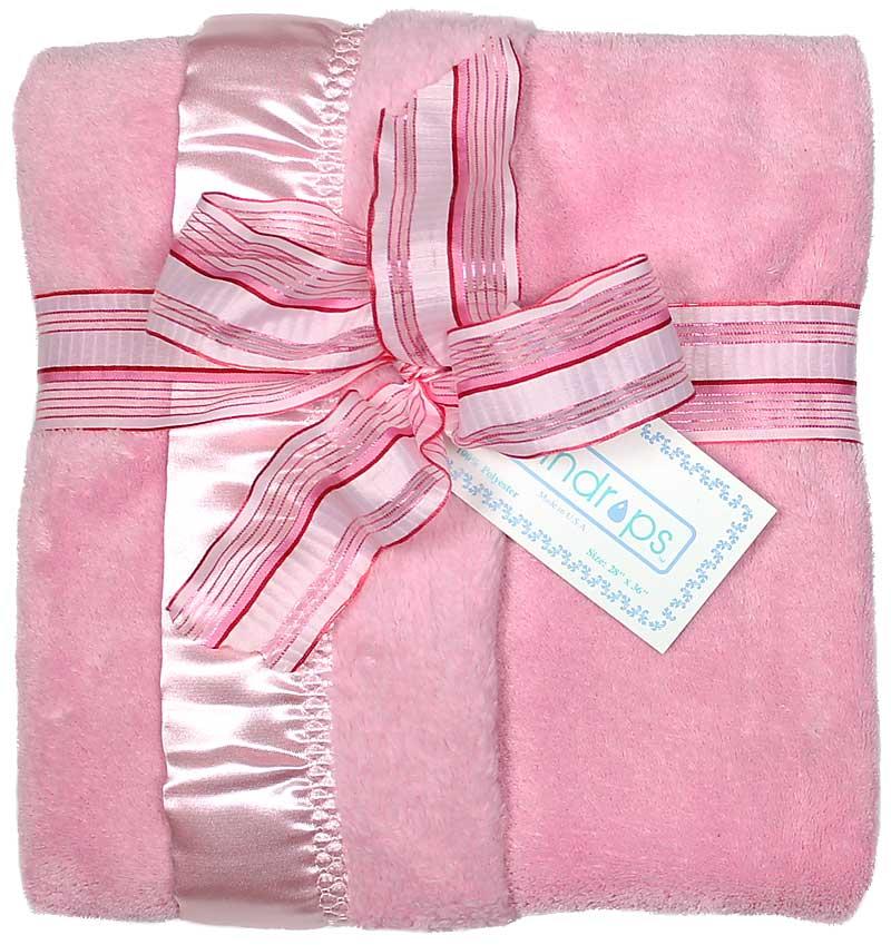 Pink Flurr Girl Receiving Blanket