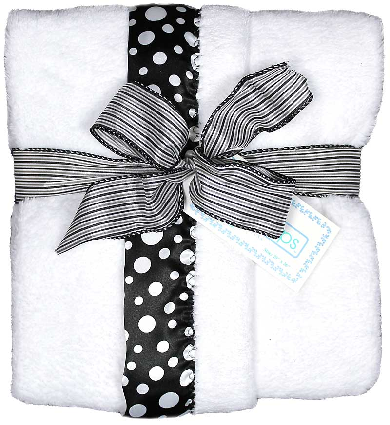 White/Black Dot Unisex Receiving Blanket