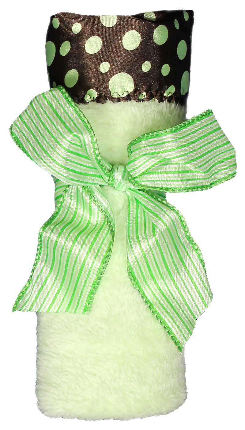Sage Green Dot Flurr Unisex Blankie