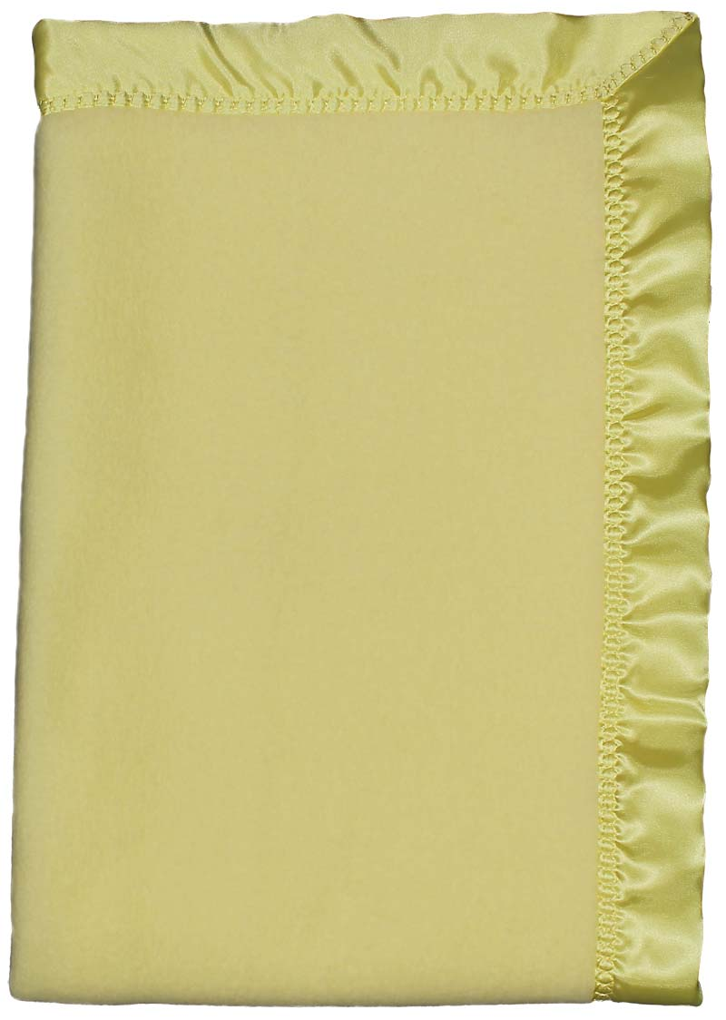Yellow Fleece Unisex Crib Blanket