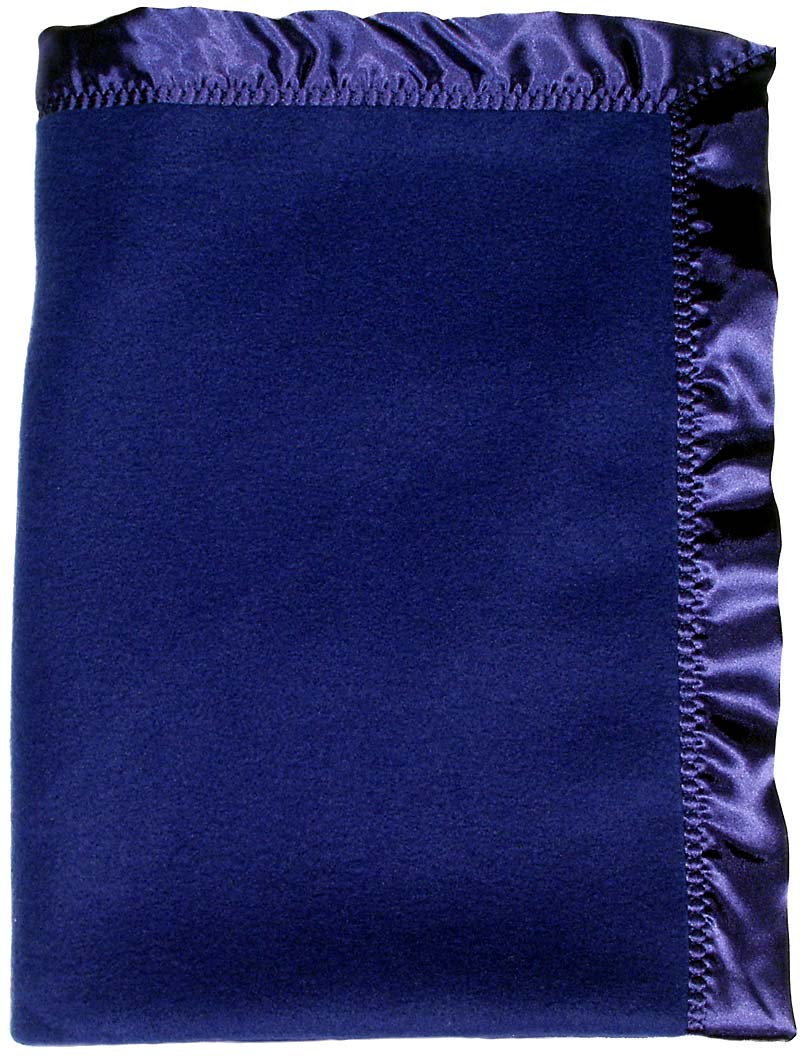 #1406 Dark Royal Fleece Crib Blanket