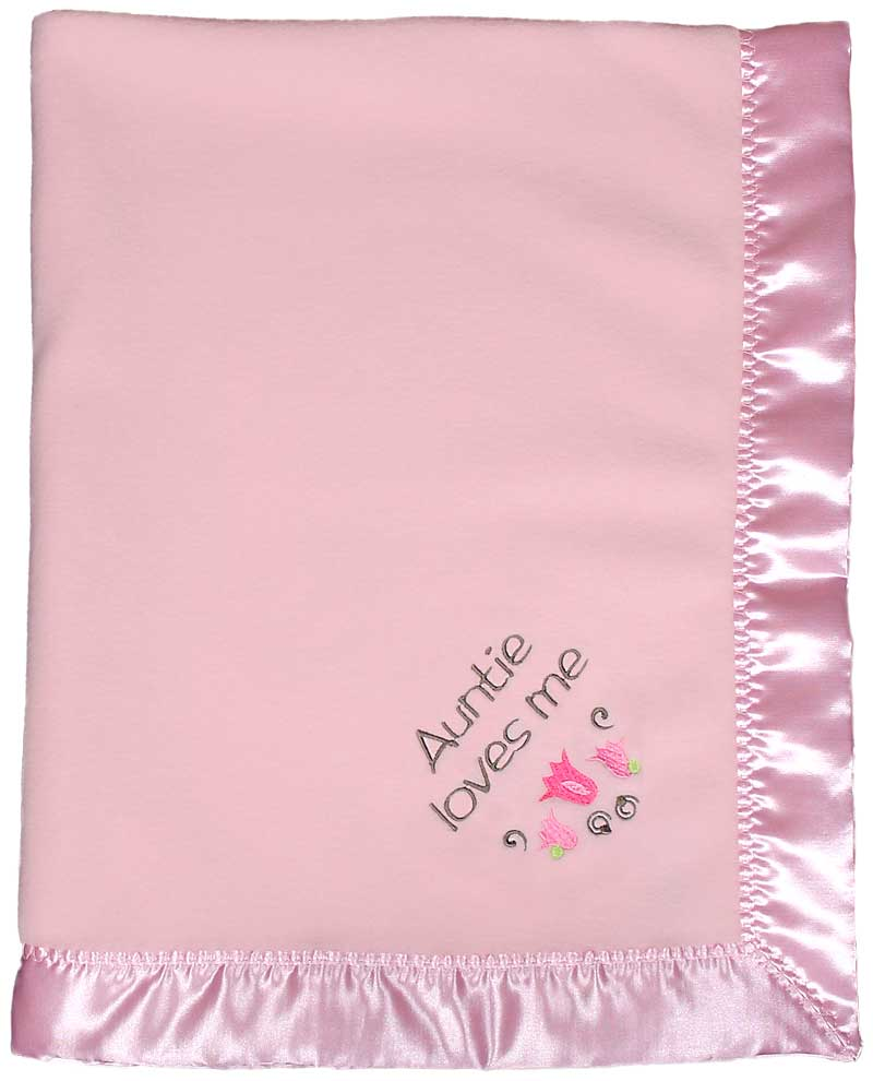 Design Your Own Pink Girls Baby Blanket
