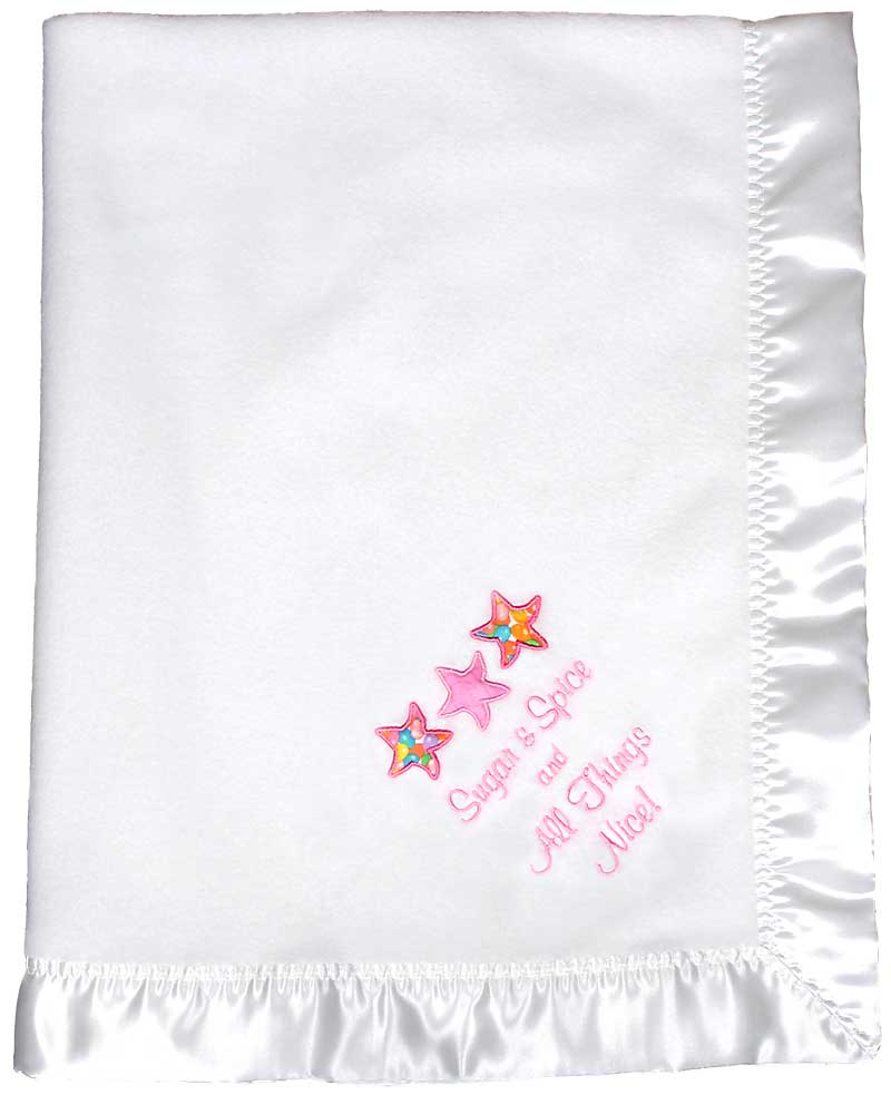 Design Your Own White Girl Baby Blanket
