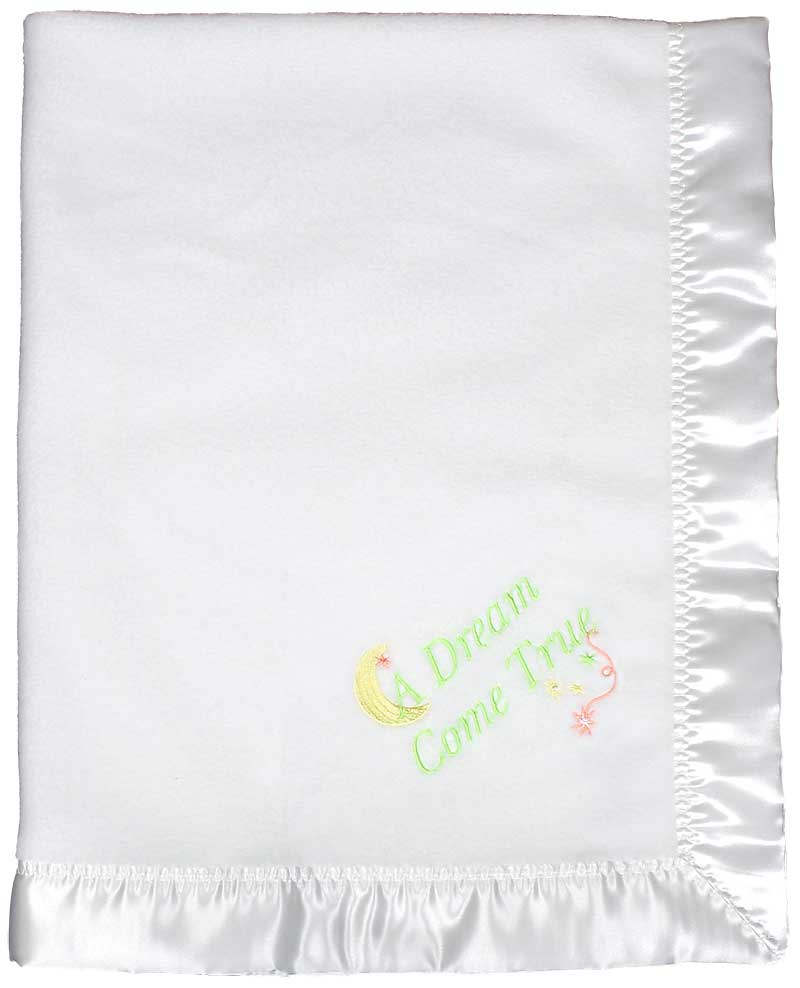 Design Your Own White Unisex Baby Blanket