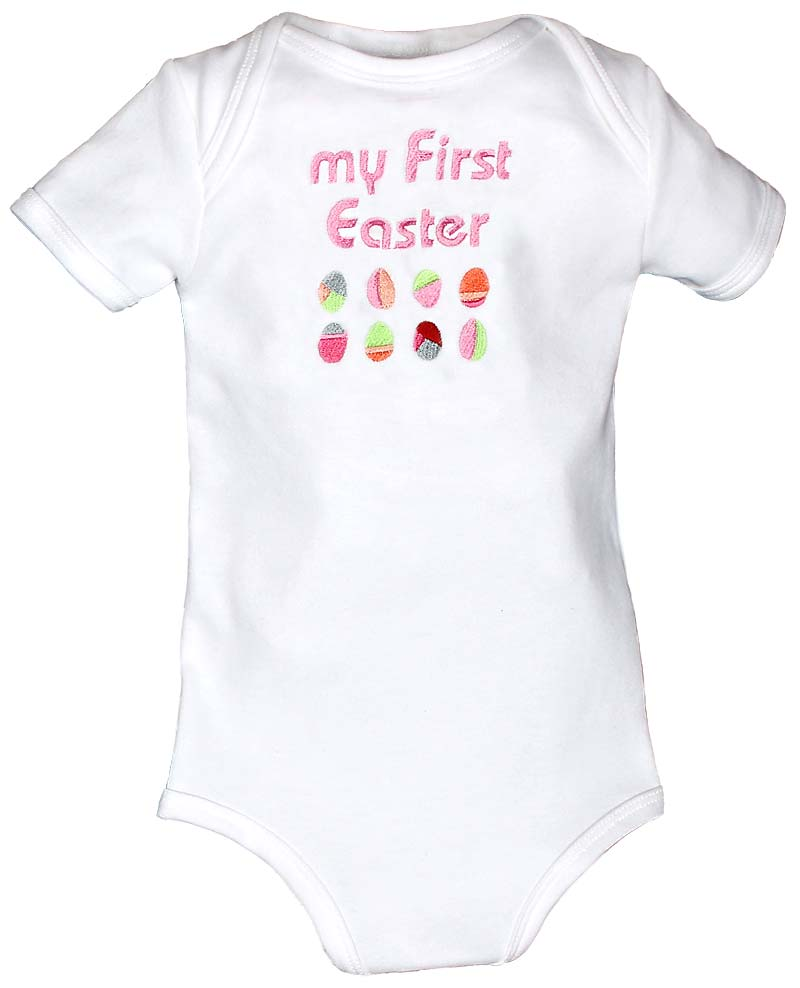"""""""My First Easter"""" Girl Body Suit"""