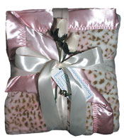 #1700 Pink Faux Fur Receiving Blanket