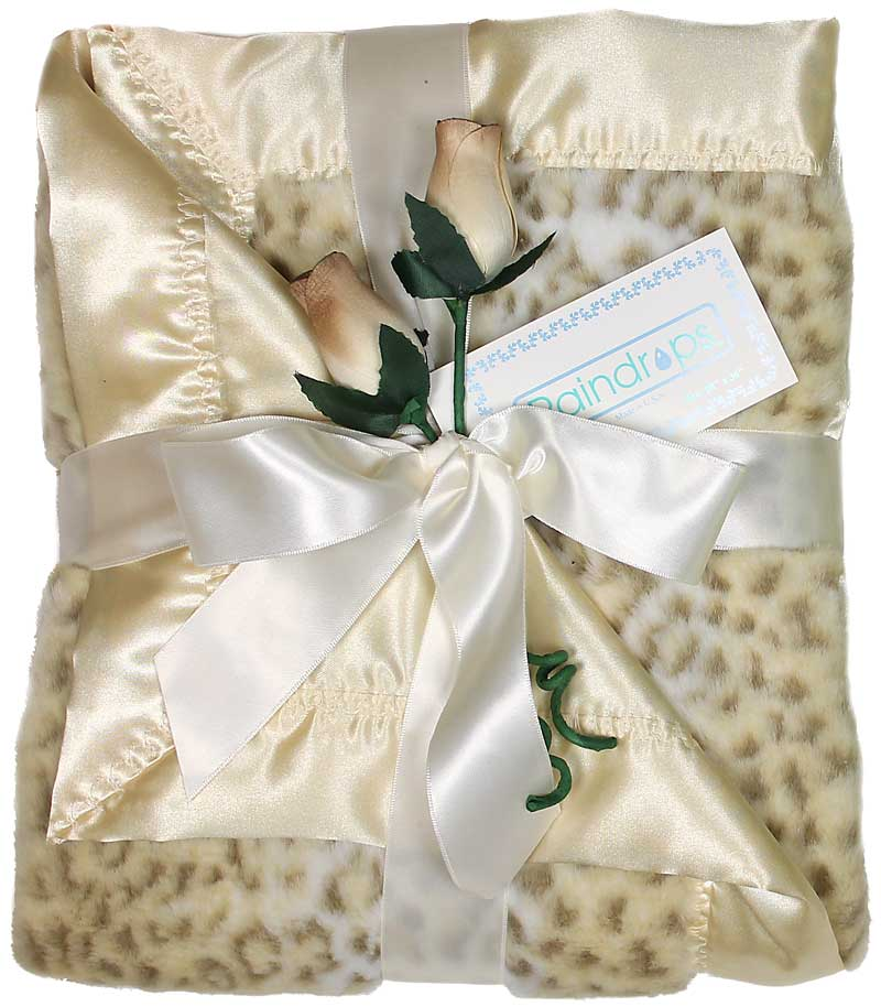 Faux Fur Unisex Receiving Blanket