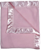 #1800 Pink Fleece Receiving Blanket