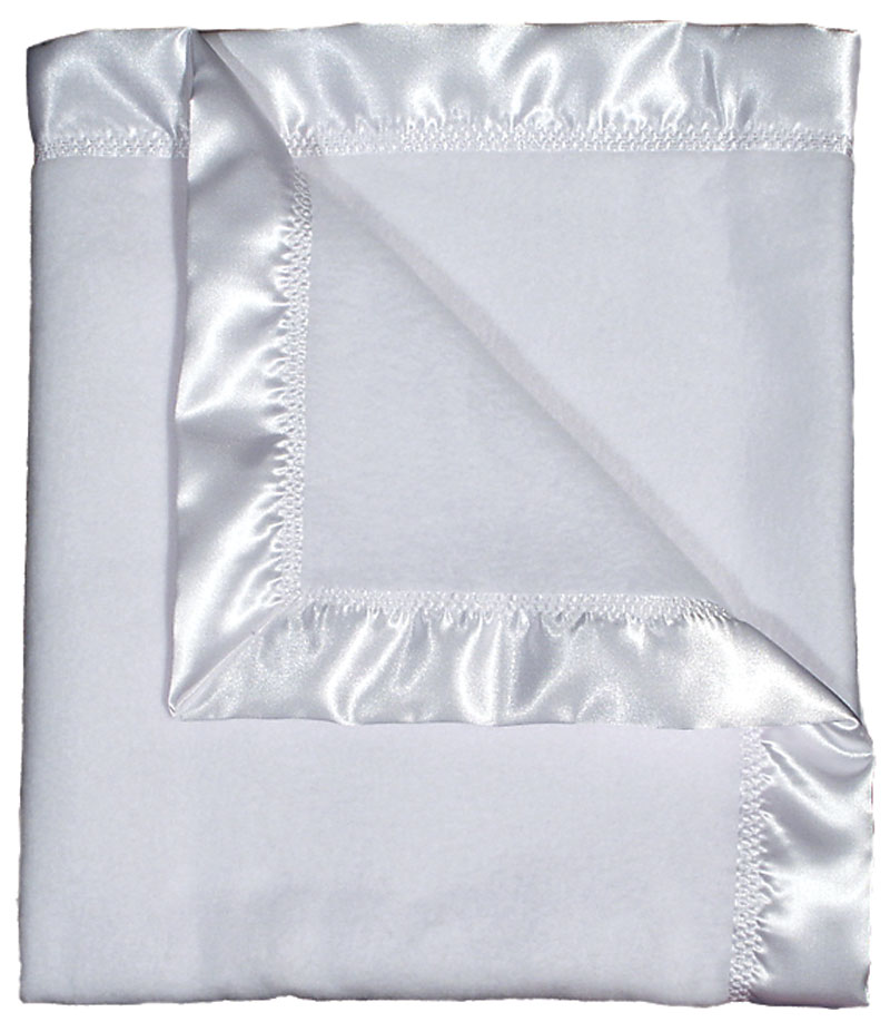 R1801 White Fleece Receiving Blanket