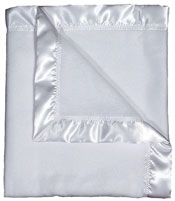 #1801 White Fleece Receiving Blanket