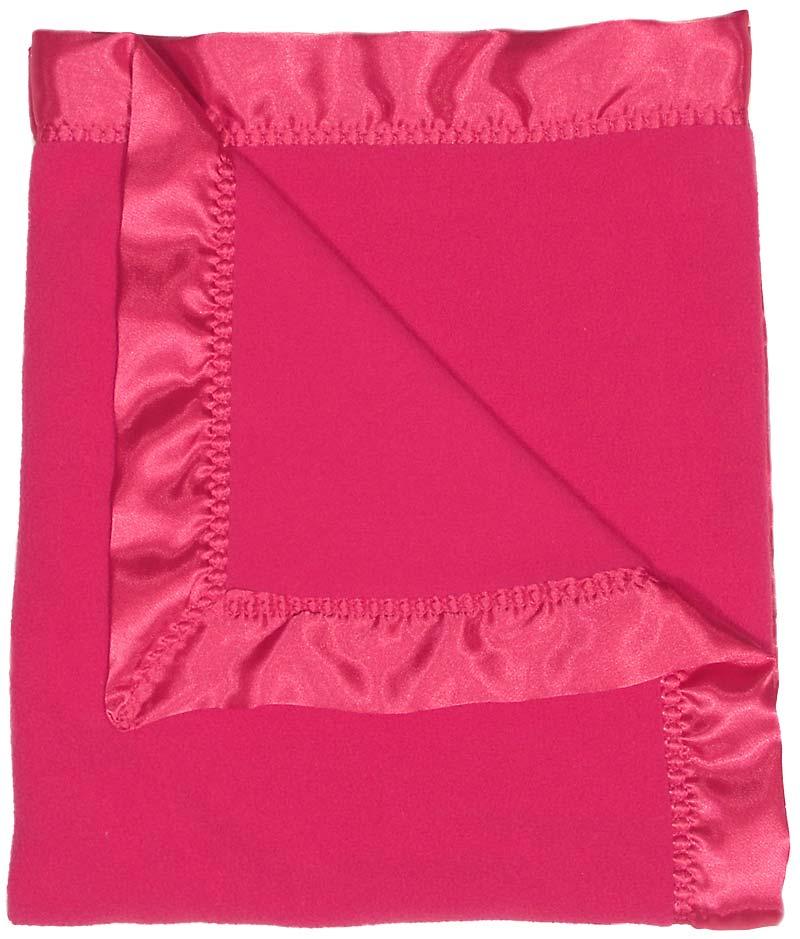 Raspberry Fleece Girl Receiving Blanket