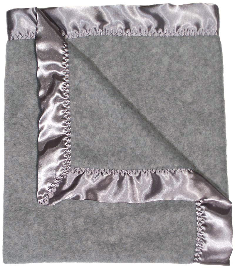 #1804 Gray Heather Fleece Receiving Blanket