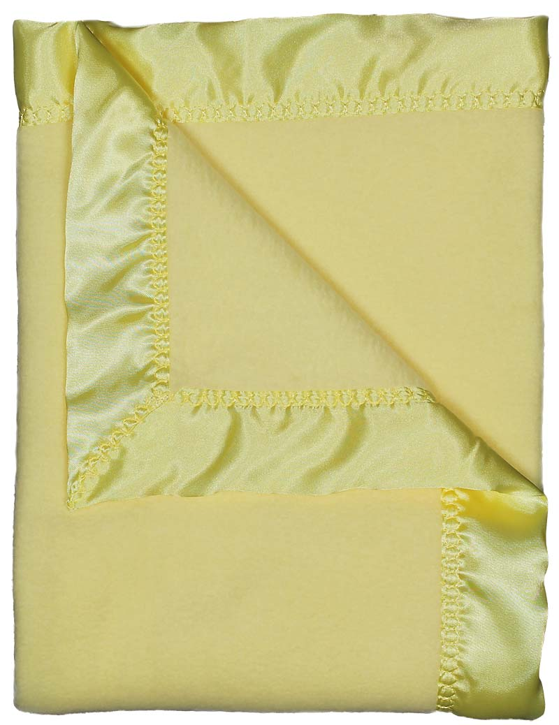 R1805 Yellow Fleece Receiving Blanket