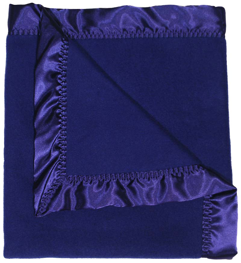 #1806 Dark Royal Fleece Receiving Blanket