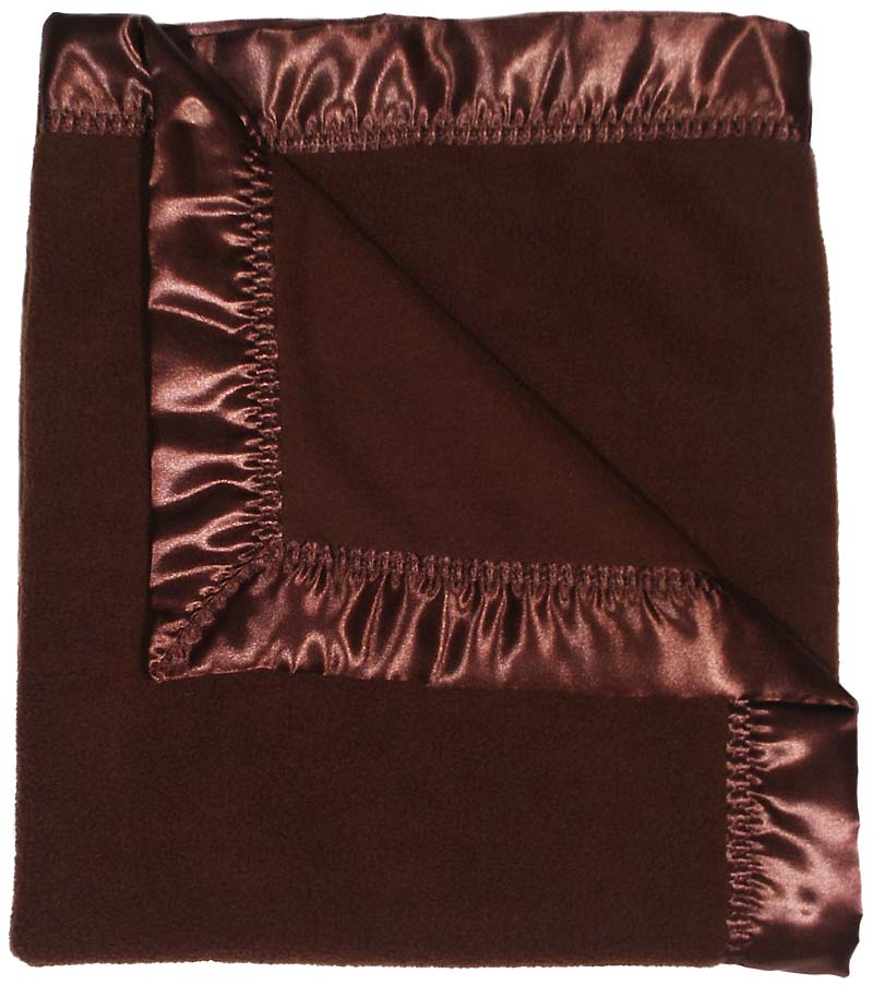 #1807 Chocolate Fleece Receiving Blanket
