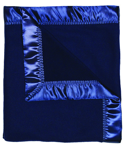 Navy Fleece Unisex Receiving Blanket