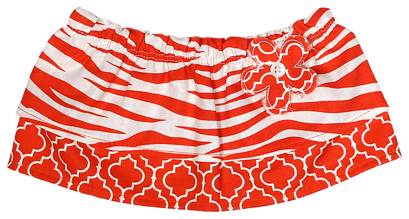 Orange Zebra Tummy Tutu