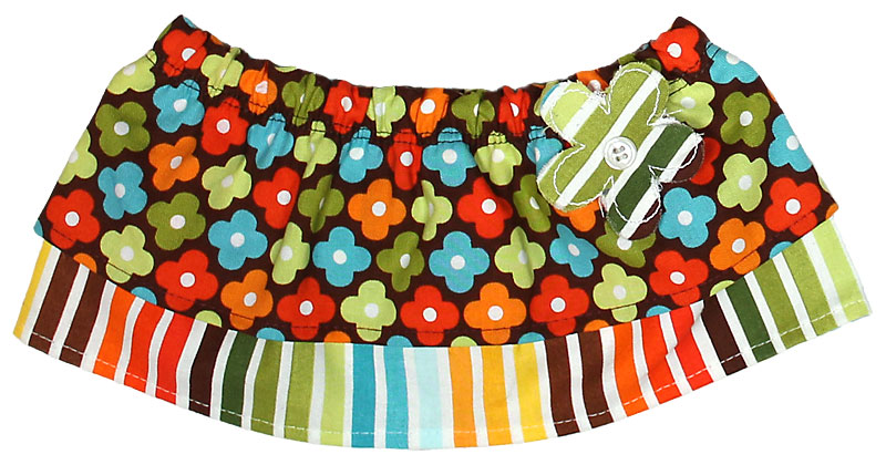 Brown Floral Tummy Tutu