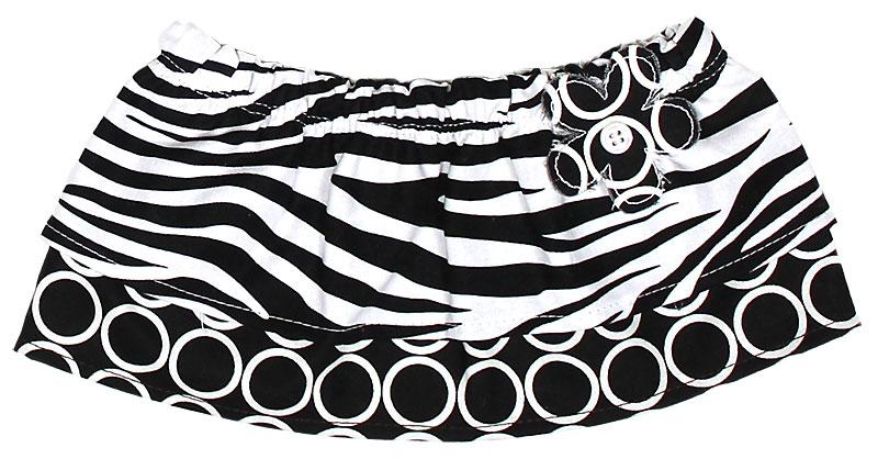 Black Zebra Tummy Tutu