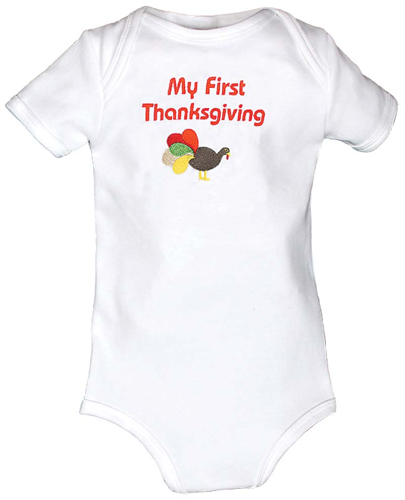 """""""My First Thanksgiving"""" Body Suit"""