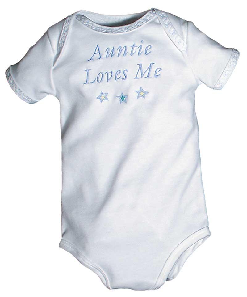 """Auntie Loves Me"" Boy Body Suit"