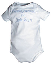 """Thank Heaven for Boys"" Boy Body Suit"