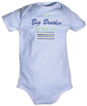 "#28462 ""My Big Brother, Sister Loves Me"" Boy Body Suit"