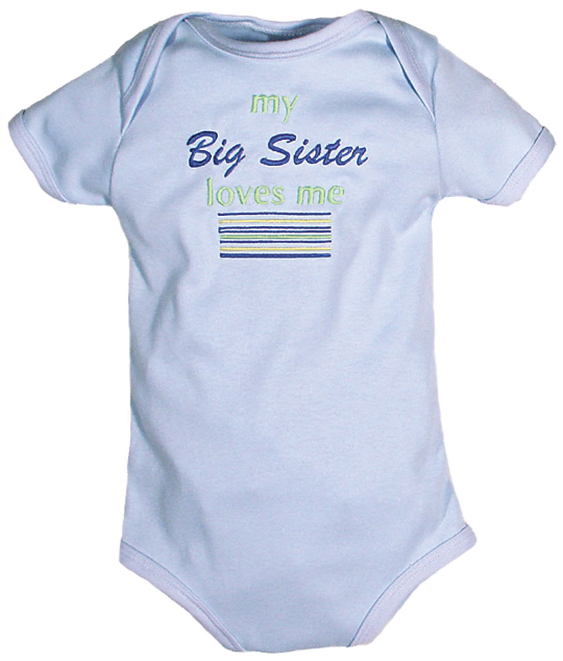 """My Big Sister Loves Me"" Boy Body Suit"