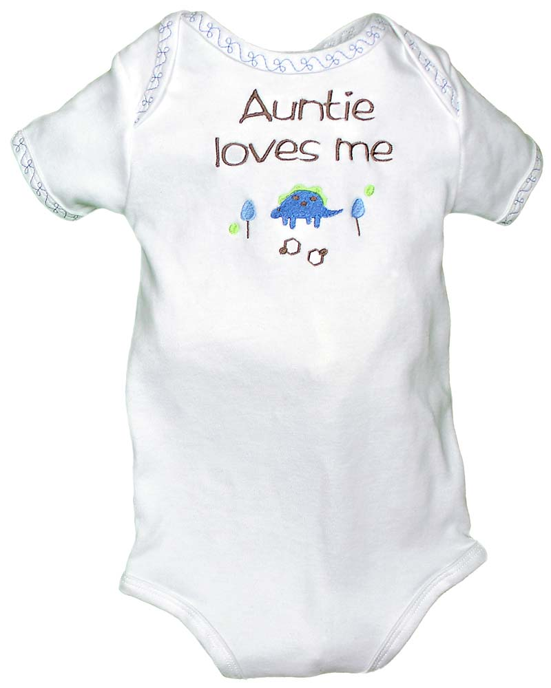 """Auntie Loves Me"" Boy Body Suit"