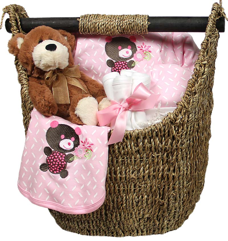 R33205 Girl Welcome Home Baby Medium Gift Set