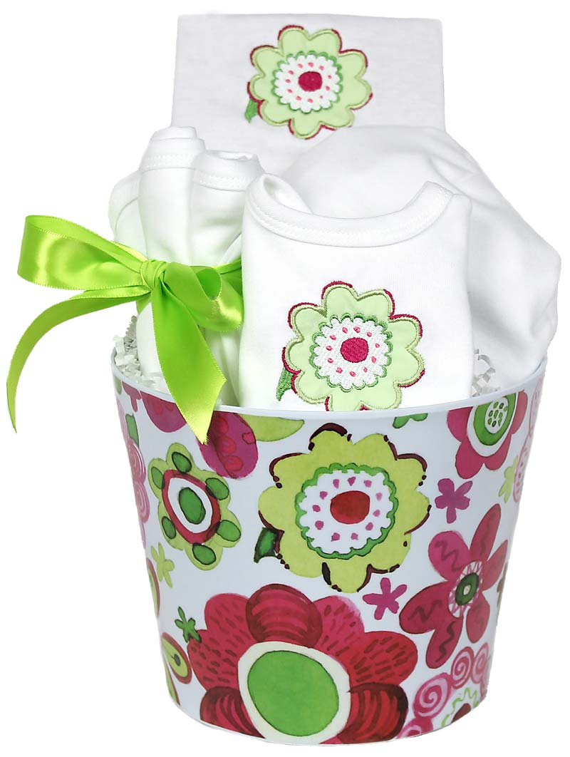 Blooming Flowers Green Accessory Girl Gift Set