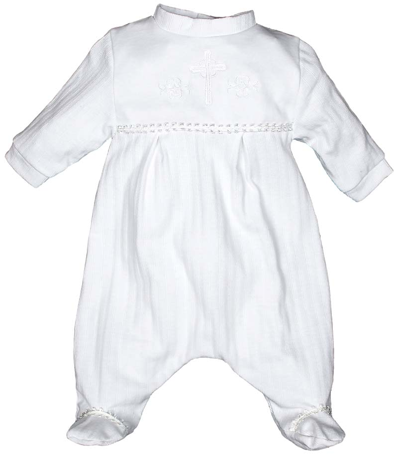 Quartz Christening Party Unisex Footie