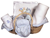 #49405 Boy Moses Basket Blanket Gift Set